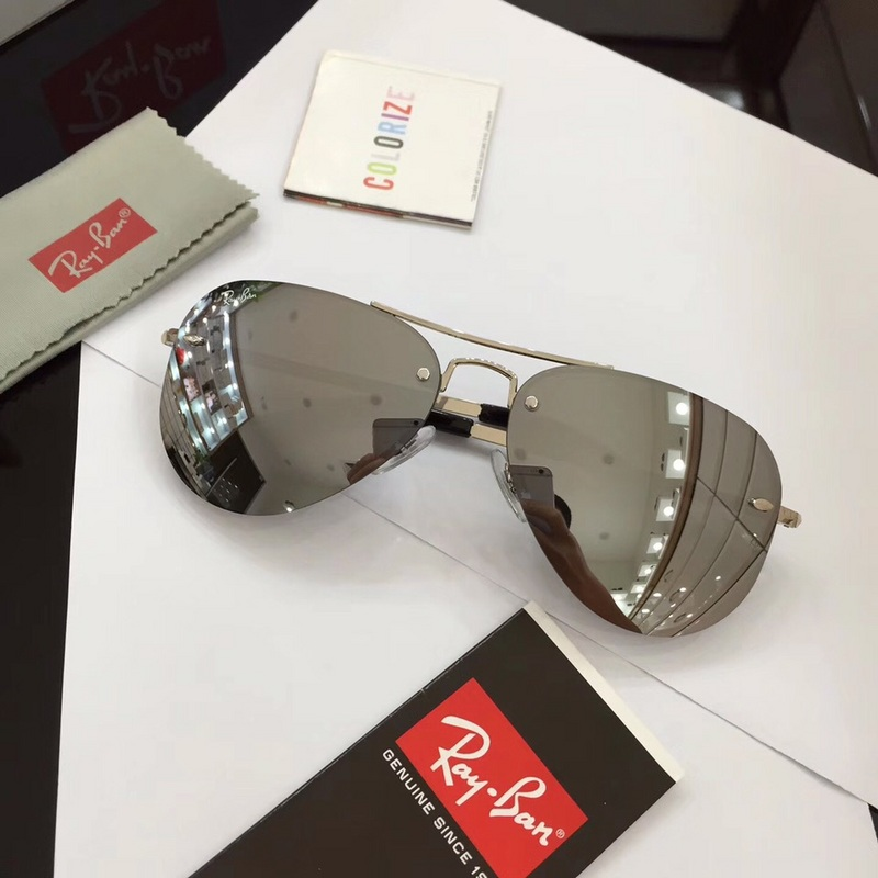 934c431d07 Ray Ban RB3449 Fashion Sunglasses Silver Lenses