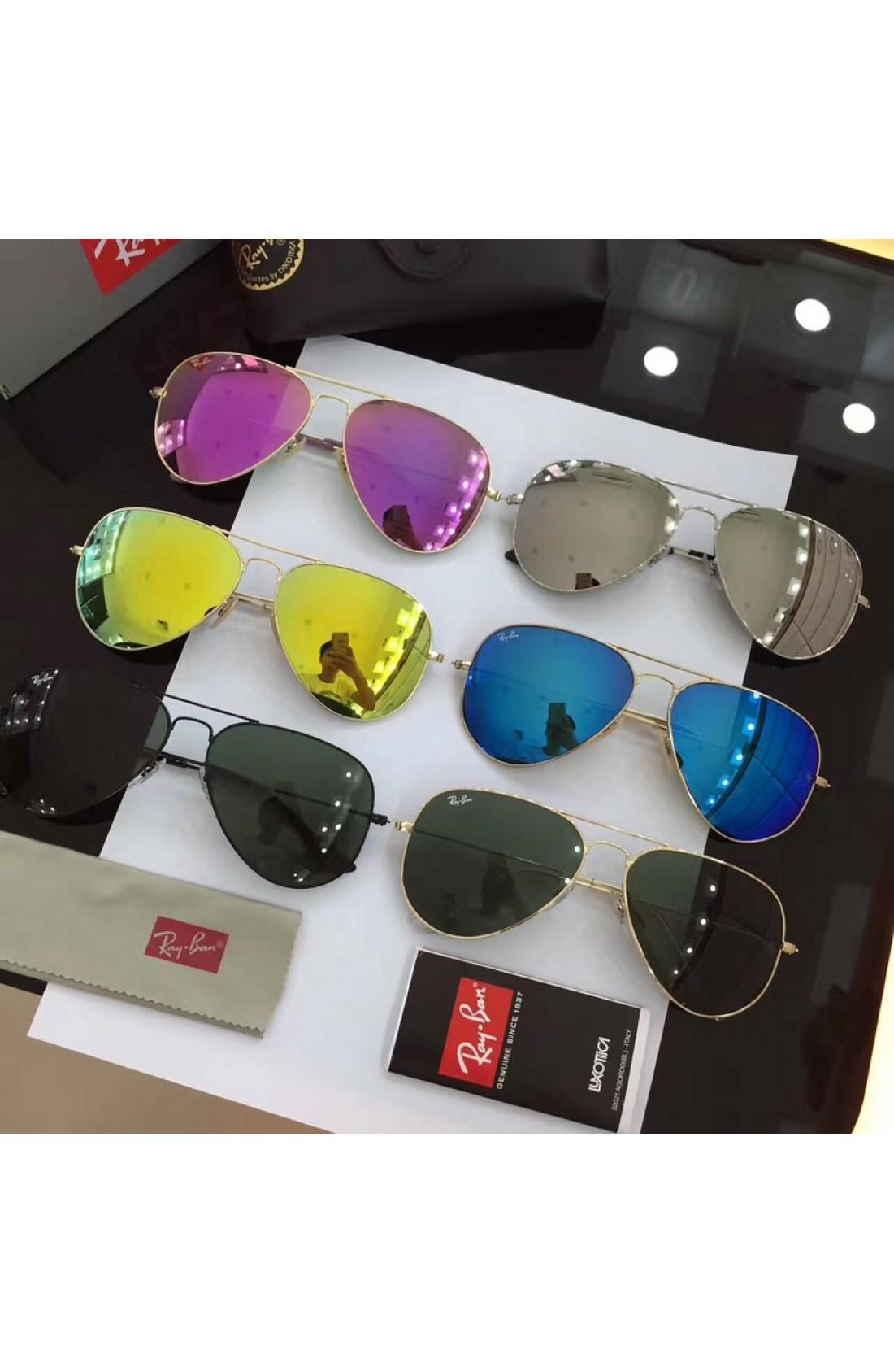 aeb14d3eb0 Clearance Sale Men s Women s Black Aviator Sunglasses Ray Ban