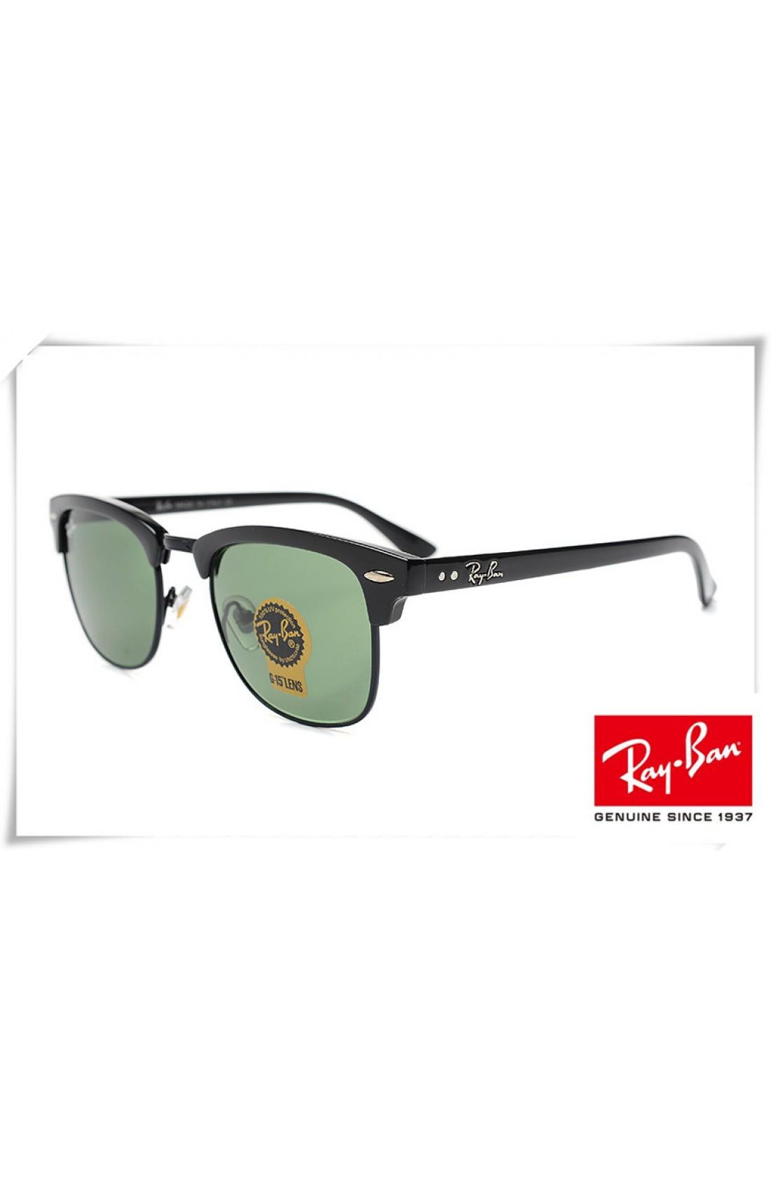 09366c993f Cheap Replica Ray Ban RB3016 Classic Clubmaster Sunglasses Black ...