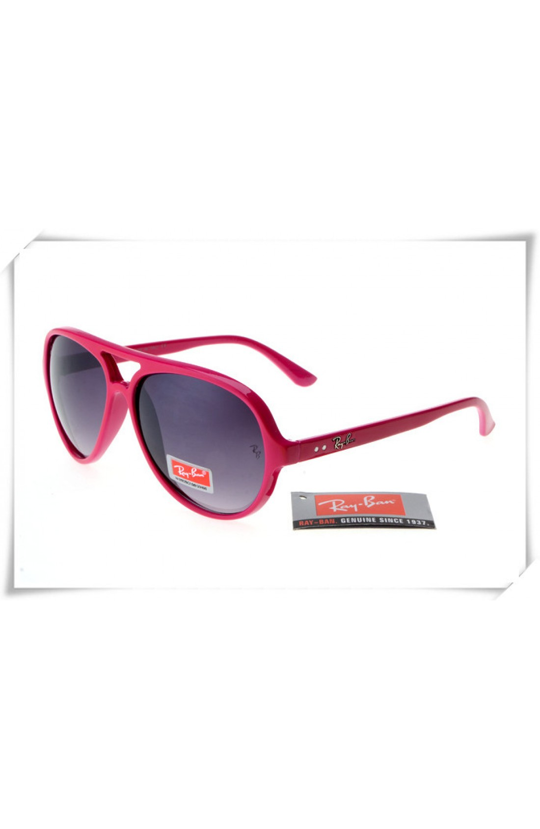 a206b236e5b6b Fake Ray Ban RB4125 Cats 5000 Sunglasses Dark Red Frame Grey ...