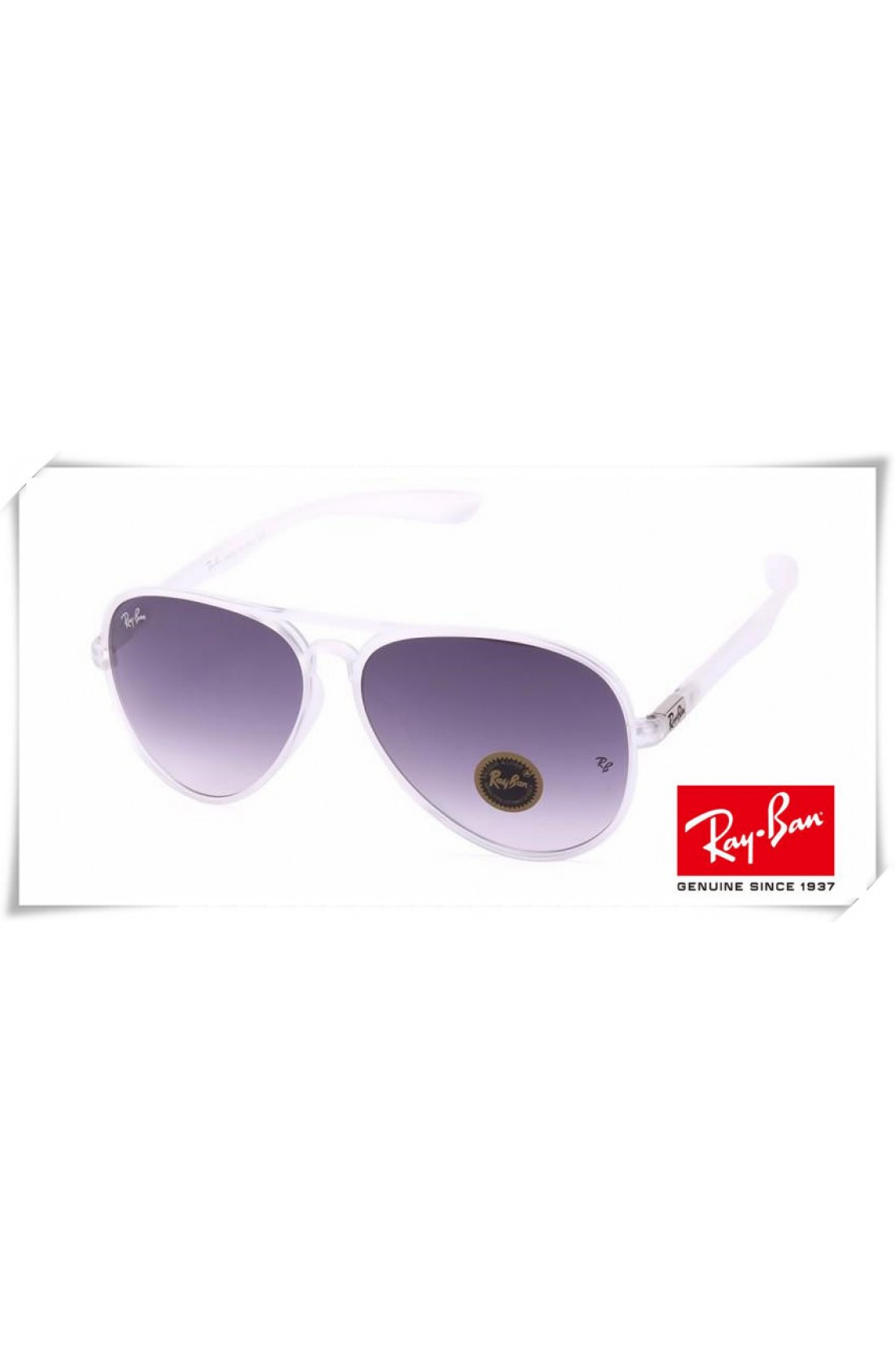 9f375b4c5dd Cheap Fake Ray Ban RB4180 Aviator Sunglasses Transparent Frame ...
