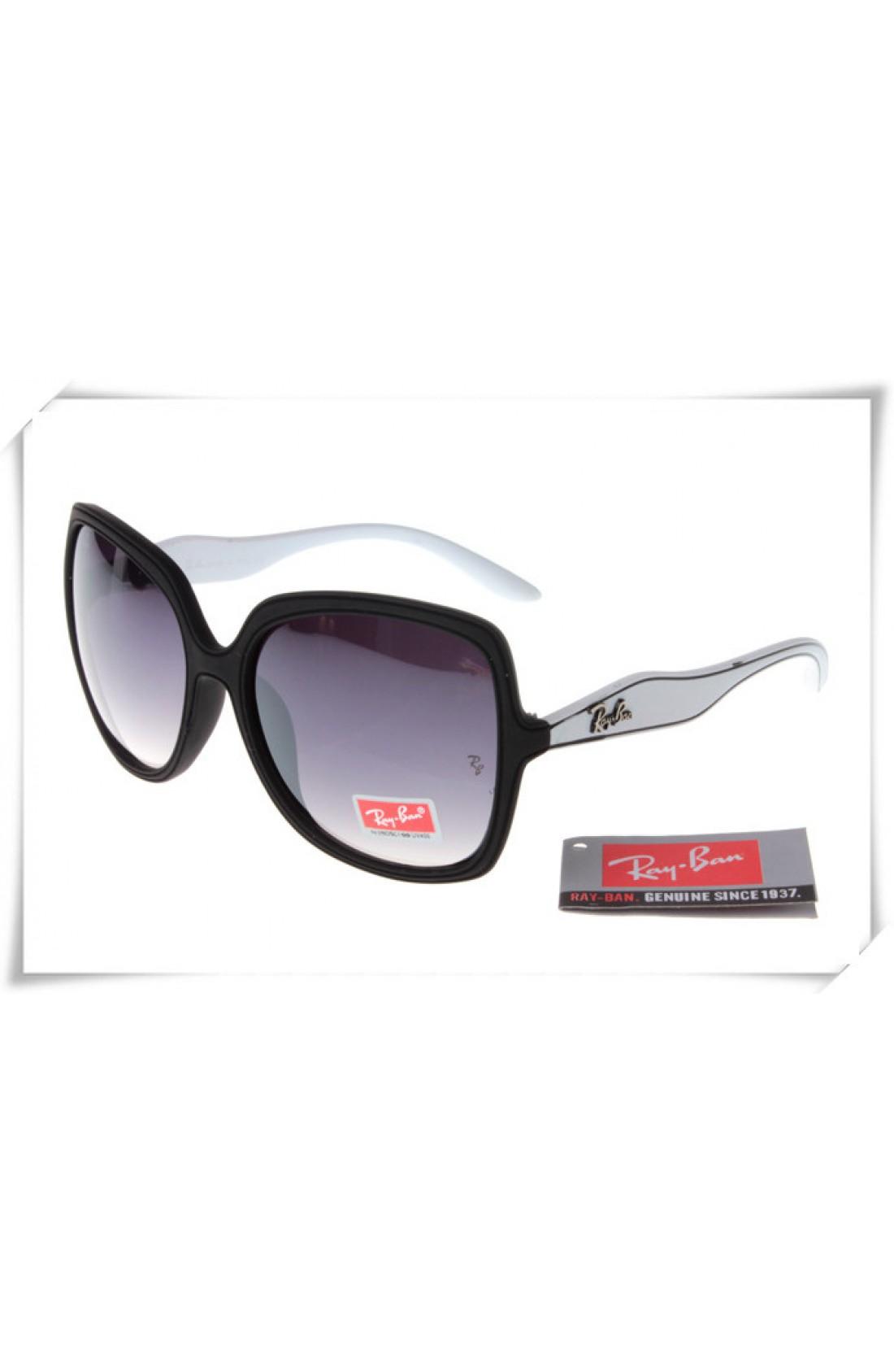 ca2b09e9c64 Replica Ray Ban RB2085 Jakie Ohh Sunglasses White Black Frame Grey ...