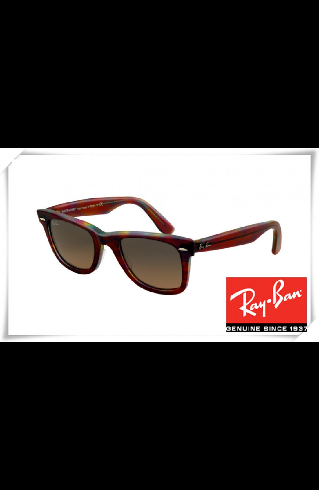 b7e8686374903 Replica Ray Ban RB2140 Original Wayfarer Sunglasses Brown Frame Grey ...