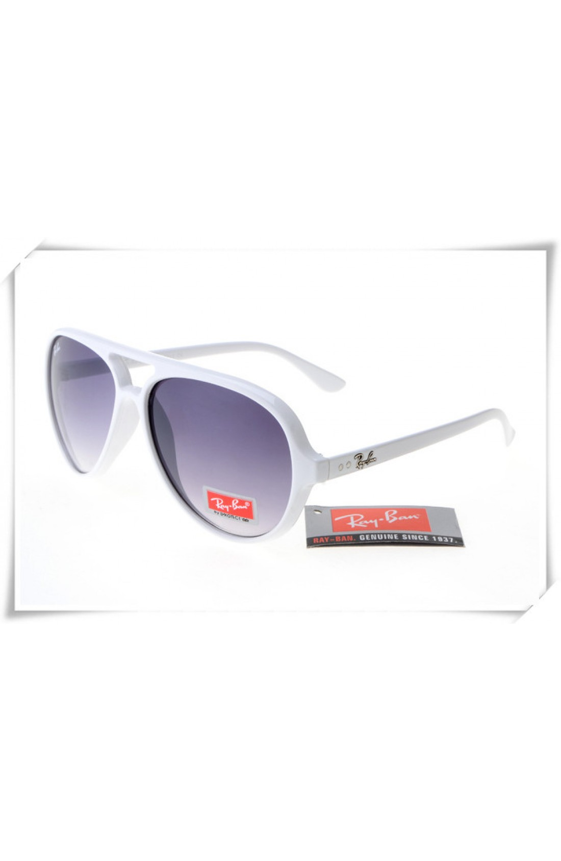 ba23ab9c25 Replica Ray Ban RB4125 Cats 5000 Sunglasses Polishing White Frame ...