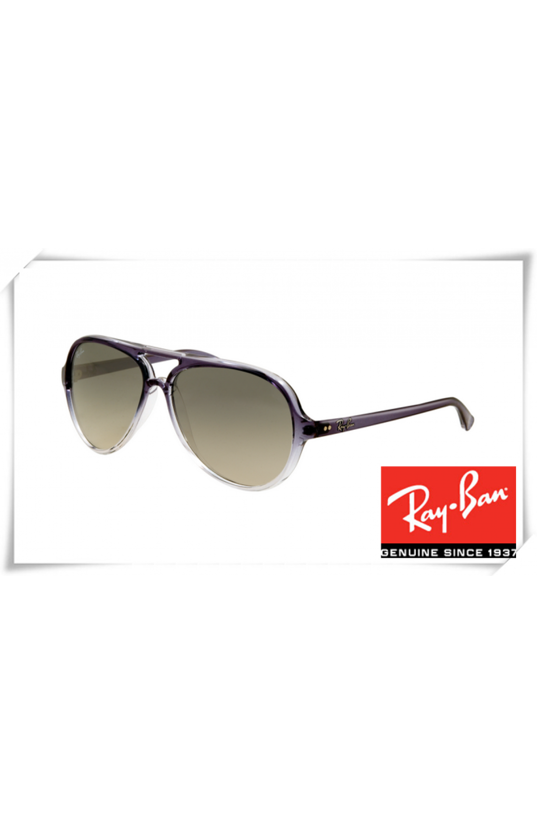 a050e7386d Replica Ray Ban RB4125 Cats Sunglasses Crystal Purple Frame Light ...