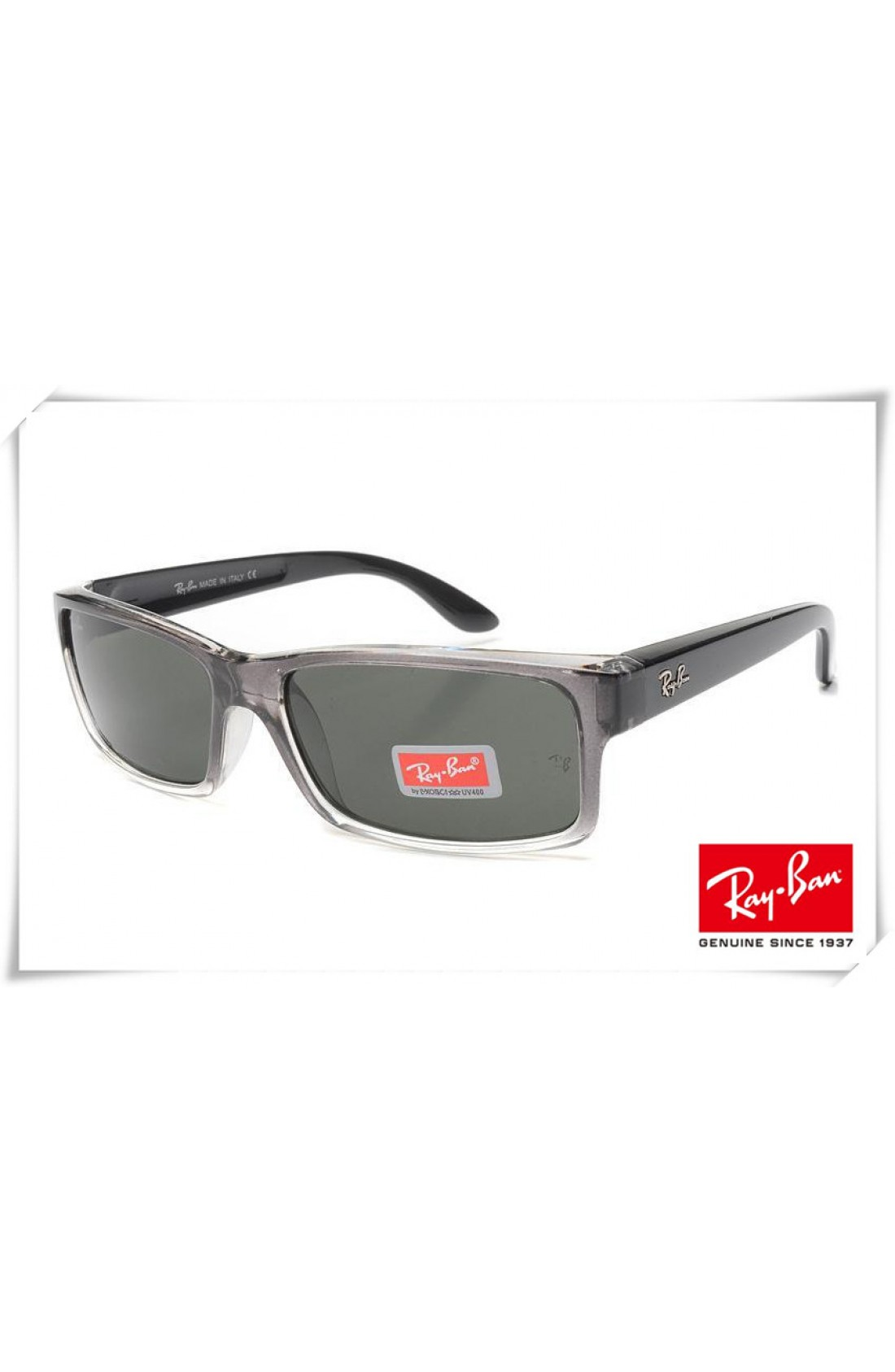 5603bd12bc6 Wholesale Ray Ban RB4151 Sunglasses Black Clear Frame Classic Green Lens