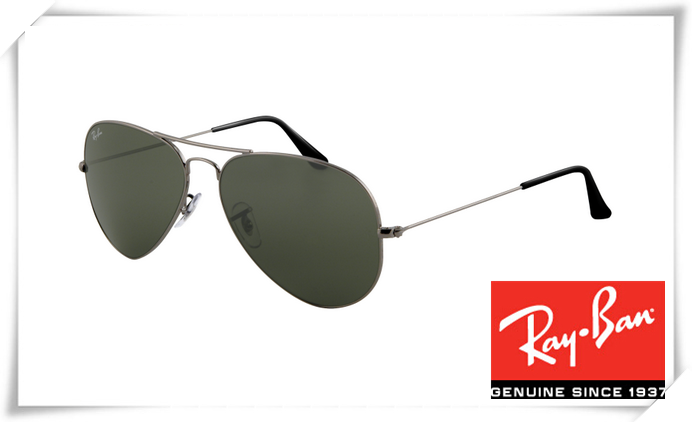 c330d8738be Cheap Fake Ray Ban RB3025 Aviator Sunglasses Gunmetal Frame Deep Green Lens