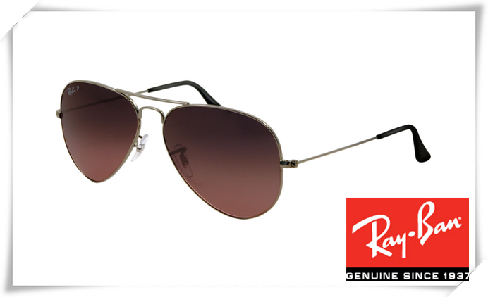 a1833bf7a96 Fake Ray Ban RB3025 Aviator Sunglasses Gunmetal Frame Crystal Wine Red  Gradient Lens Outlet
