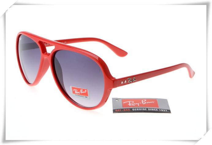 ca2e91a97c Fake Ray Ban RB4125 Cats 5000 Sunglasses Polishing Red Frame Grey Gradient  Lens Outlet