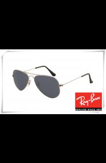 60066ea7a05 Ray Ban RB3044 Aviator Small Metal Sunglasses Gunmetal Frame Crystal Grey  Lens
