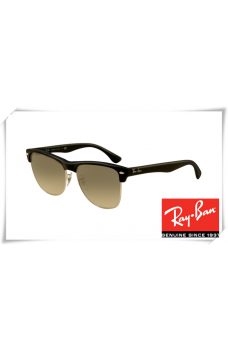 0a070a7ec3c Ray Ban RB4175 Clubmaster Oversized Sunglasses Black Frame Grey Gradient  Lens
