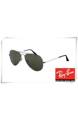 26a16e04797 Ray Ban RB3025 Aviator Sunglasses Gunmetal Frame .