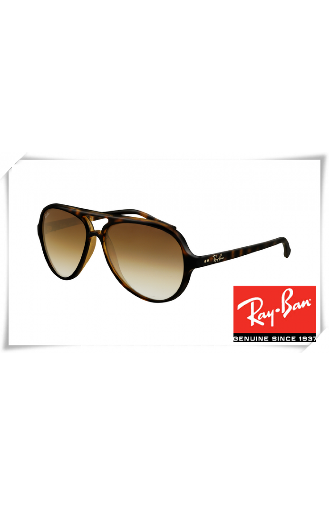 Cheap Fake Ray Ban RB4125 Cats Sunglasses Tortoise Frame Brown ...