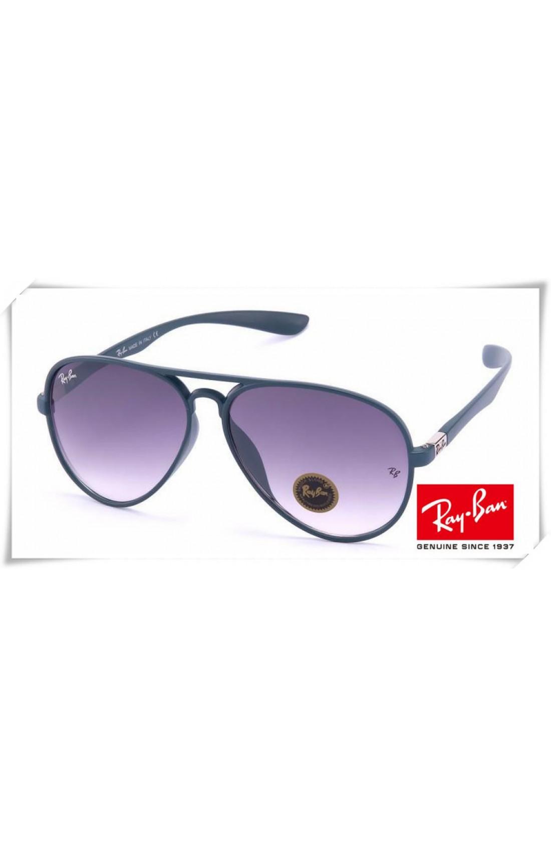 19fca9b05f1 Cheap Replica Ray Ban RB4180 Aviator Sunglasses Blue Grey Frame ...