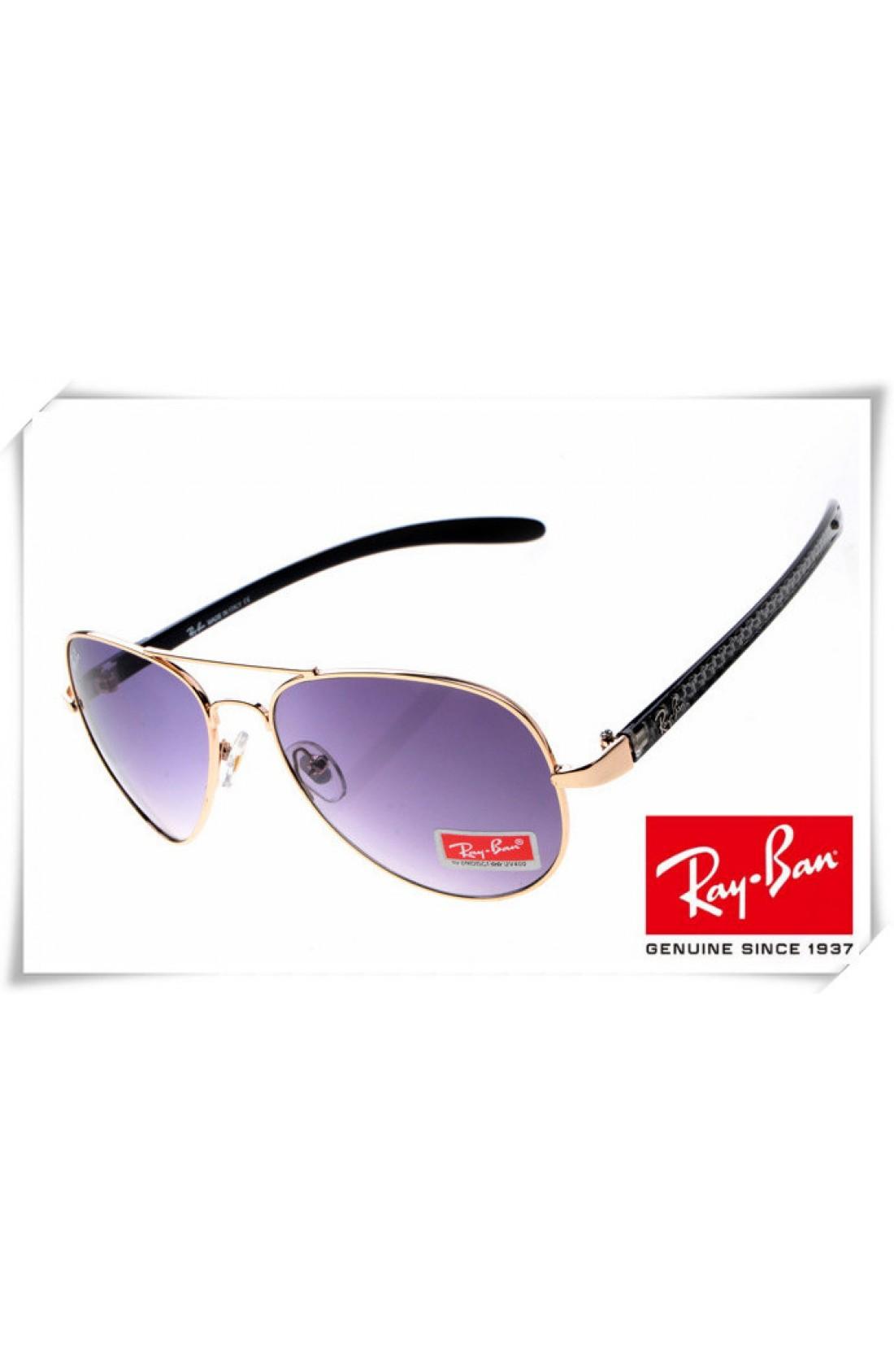 3a5095ab60 Replica Ray Ban RB8307 Aviator Tech Sunglasses Carbon Fibre Gold ...